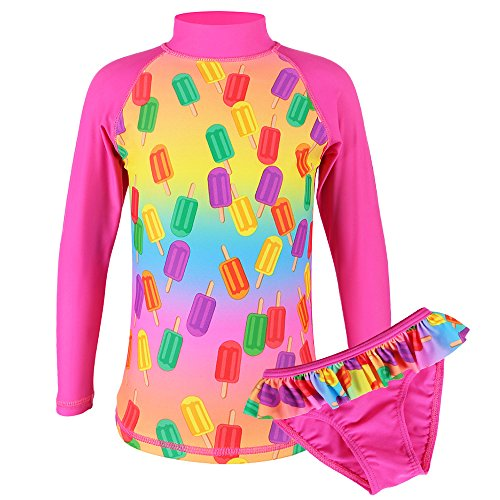 TFJH Girls Swimsuit Popsicles 7-8 Years UPF 50+ UV