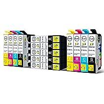 Colorwd 13 Stück Kompatibel Tintenpatronen Epson 18XL Hohe Kapazität T1811 T1812 T1813 T1814 Kompatibel mit Epson Expression Home XP102 XP202 XP205 XP212 XP215 XP225 XP30 XP33 XP302 XP305 XP312 XP315 XP322 XP325 XP402 XP405 XP405WH XP412 XP415 XP422 XP425 (7 Schwarz, 2 Cyan, 2 Magenta, 2 Gelb)