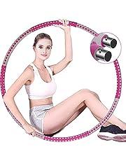Braoses Viktade rockringar för vuxna träning, 8 sektioner avtagbar fitness rockring med stabil rostfri stålkärna, justerbar vikt fitness träningsring för viktminskning buken formning