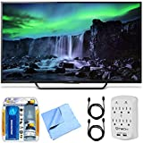 Sony XBR-65X810C - 65-Inch 4K Ultra HD 120Hz Android Smart LED TV Essentials Bundle Includes 65-Inch 4K Ultra HD TV, Cleaning Kit, Micro Fiber Cloth, 2 HDMI Cables and Surge Protector with USB Ports