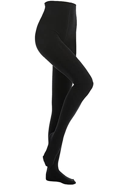 a497f346d9bfc MANZI -One Pair 400 Denier Black Tight Women's Winter Warm Comfort ...