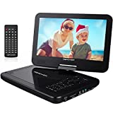 """Electronics : DBPOWER 10.5"""" Portable DVD Player with Rechargeable Battery, Swivel Screen, SD Card Slot and USB Port - Black"""