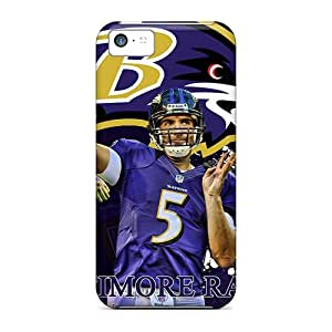 ArtCover Iphone 5c Hybrid Tpu Case Cover Silicon Bumper Baltimore Ravens