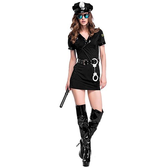 Shihong-G Disfraz de policía Sexy para Mujer de Halloween ...