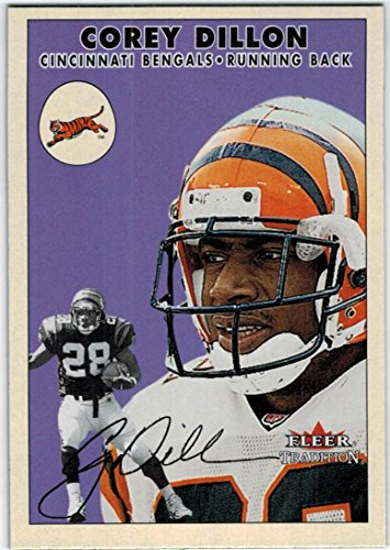 2000 Fleer Tradition Cincinnati Bengals Team Set with Corey Dillon & Peter Warrick RC - 10 - Card Bengals