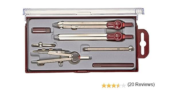 Rotring (S0233370) Centro compás universal de 540 mm (estuche de 7 piezas): Amazon.es: Oficina y papelería