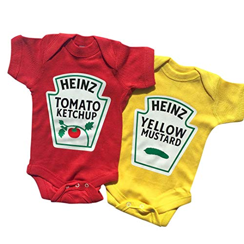 Twins Outfits, Ketchup and Mustard Twin Set,