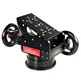 Proaim Orion Professional 2-Axis Pan Tilt Geared Head with 100mm Bowl Base Mount for Tripod Slider Dolly | for DSLR Video Cinema Cameras up to 25kg/55lbs | FREE Carrying case (P-OGR-H)
