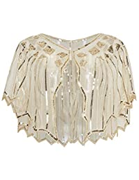 BABEYOND Sequin Beaded Evening Cape 1920s Shawl Wraps