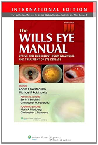 the wills eye manual 9781451175844 amazon com books rh amazon com Wills Eye Hospital Phila PA Wills Eye Manual Newest Edition