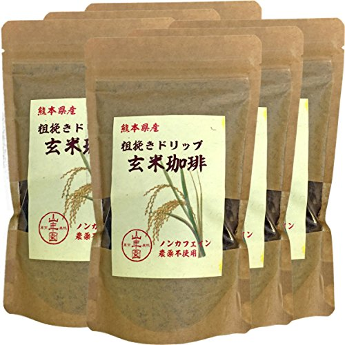 Japanese Tea Shop Yamaneen [Organic 100%] unpolished rice coffee 200g x 6packs by Japanese Tea Shop Yamaneen