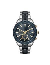 Armani Exchange AX1815 Men's Quartz Stainless Steel Casual Watch, Blue