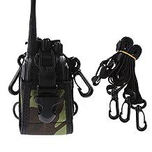 Tenq® Camouflage Green Msc-20b Multi-functional Radio Case Pouch for Two Way Radio Motorola Kenwood Midland Icom Yaesu Baofeng Two Way Radio
