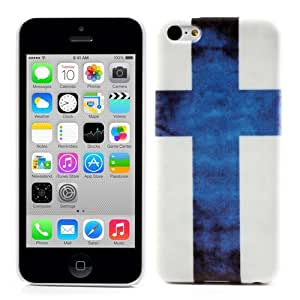 JUJEO The Cross Flag of Finland Hard Case for iPhone 5C, Non-Retail Packaging, Blue