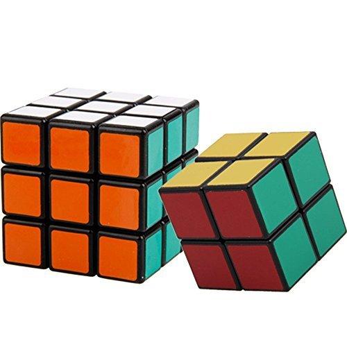 2 Pack Shengshou 3x3x3 + 2x2x2 Square Speed Cube Puzzle Black