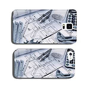 House plan with calculator cell phone cover case Samsung S6