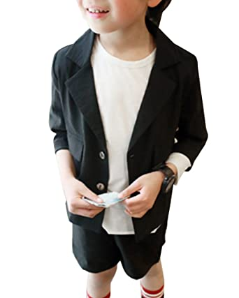 Boys Casual 2 Pieces Suits Short Suit Set Party Formal Wedding Suits