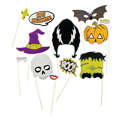 [Halloween Stick Photo Booth Props (1 Dozen)] (Barney Infant Costumes)