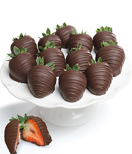 Belgian Dark Chocolate Covered Strawberries - 12 piece by Chocolate Covered Company