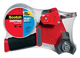 Scotch Heavy Duty Shipping Packaging Tape with Heavy Duty Dispenser, 1.88 Inches x 54.6 yd (3850-ST)