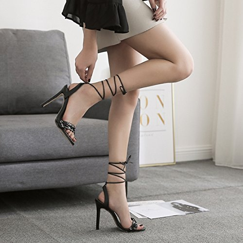 Party Heels Frauen Ausgeschnitten High Schuhe Toe Sandalen Sexy Damen Slip Hochzeit Peep Pumps Stiletto Knöchelriemen Roman Schuhe On Party nqrq1vgY