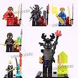 6pcs Ninjago Super hero General Cryptor Kai Jay Cole Zane Fits Mini Figures