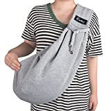 Cuby Hand-Free Revisible Pet Small Dog Sling Carrier Bag (Updated with Adjustable Shoulder Strap) (Grey Adjust)