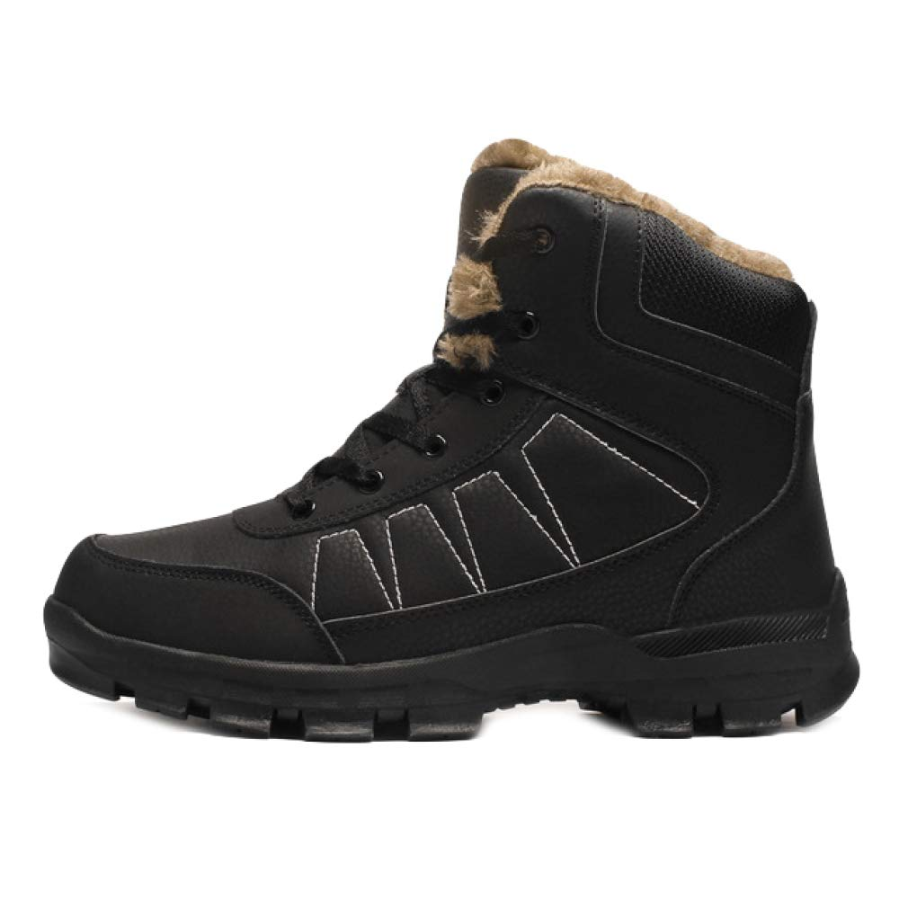 JINGRONG Winter Männer Rutschfeste Baumwolle Schuhe Hohe Hilfe Plus SAMT Warme Schneeschuhe Outdoor Sportschuhe Geeignet Für Reise Arbeit