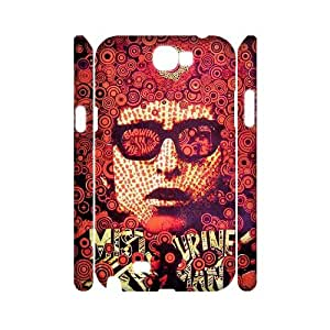 Samsung Galaxy Note 2 N7100 3D Personalized Phone Back Case with Bob Dylan Image