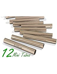 Craftit Edibles Mini Cannoli Tubes, Set of 12 by CiE Stainless steel Cannoli Forms, Pastry molds