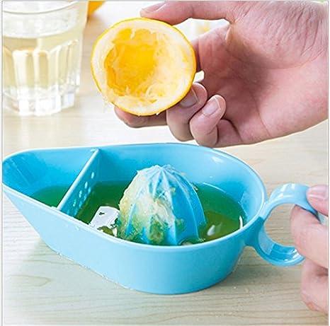 Rápido y comodidad Lemon Squeezer - De alta calidad Exprimidor Limón Exprimidor/Lime Exprimidor, ayudante de cocina práctica y fácil de manejar azul: ...