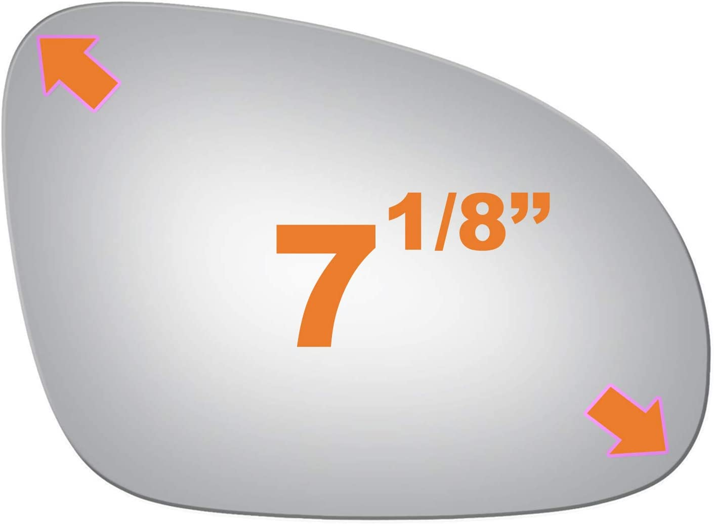 Mirror Glass Replacement and Adhesive for VolksWagen Rabbit Jetta GTI EOS Passenger Right Side