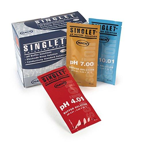 Hach 2770120 SINGLET Single-Use pH Buffer, pH 7.00 (NIST), (Pack of 20)