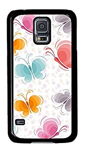 Samsung Galaxy S5 Patterns Butterflys PC Custom Samsung Galaxy S5 Case Cover Black