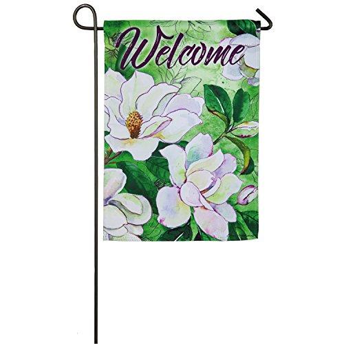 Evergreen Magnolias Outdoor Safe Double-Sided Suede Garden Flag, 12.5 x 18 - Enterprises Magnolia