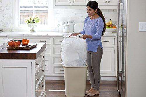 012587703205 - Glad ForceFlex OdorShield Tall Kitchen Drawstring Trash Bags, Fresh Clean, 13 Gallon, 34 Count carousel main 5
