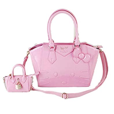 2a39fc5dc07a Image Unavailable. Image not available for. Color  New 2 in 1 Hello kitty  Handbag Shoulder bag Purse + Small Coin bag Tote Bags