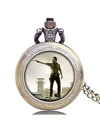Men's Pocket Watch, Walking Dead Rick TV Series Theme Nostalgic Pocket Watch, Best Gift for Men Fans of The Walking Dead - Ahmedy Pocket Watch
