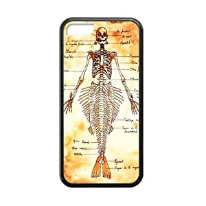 Artsalong Mermaid Skeleton Nice Vintage Collection Best Durable Soft Rubber Case Cover for phone ipod touch 5 ipod touch 5 (Laser Technology)