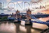 London, England - London Bridge (9x12 Collectible Art Print, Wall Decor Travel Poster)