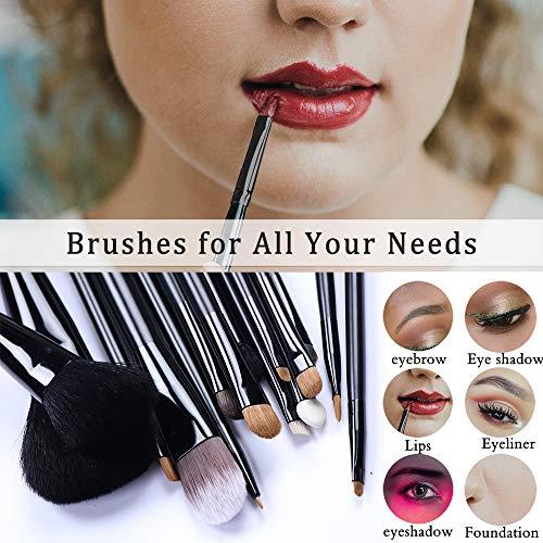 Makeup Brushes Set, Binca Vidou Professional 18 Pcs Cosmetic Brush Kit for Foundation Blending Face Powder Concealer Eyeshadow Liquid Powder Cream Brushes for Cosmetician Dresser Beginner No Shedding