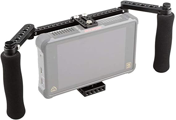 Camvate Monitor Cage Mit Verstellbaren Griffen Für 5 Kamera