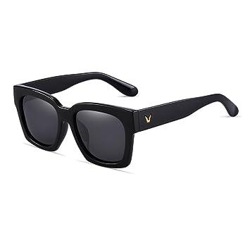 WYYY gafas de sol Gafas Sra. Hombres Cara Redonda Caja ...