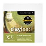 Ampersand Museum Series Claybord Panels for Paint and Ink, 1/8 Inch Depth, 5X5 Inch, Pack of 4 (CBS055)