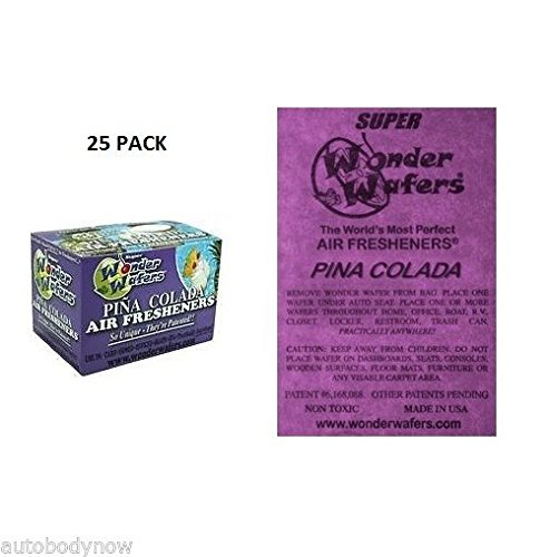 Wonder Wafers 25 CT Individually Wrapped Pina Colada Air Fresheners (Wonder Wafers)