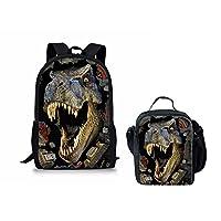 INSTANTARTS T-rex Dinosaur Schoolbag Travel Shoulder Backpack Book Bag