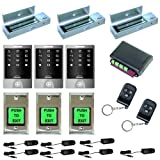 FPC-5171 Three door Access Control outswinging door 1200lbs Electromagnetic lock with Seco-Larm Wireless Remote and Vsionis Outdoor Keypad kit