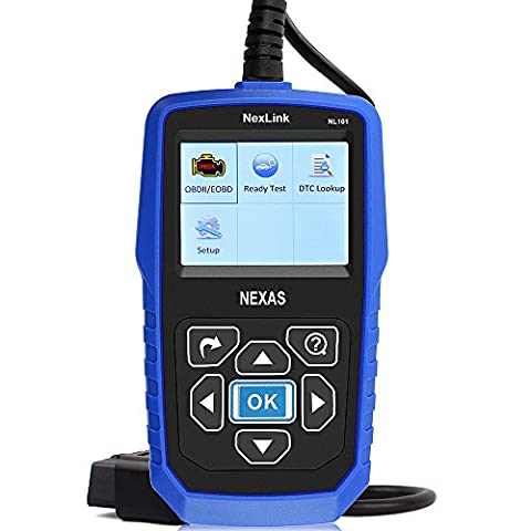 Engine Analyzer NexLink NL101 OBD2 OBDII Automotive Scanner Tool Check Engine Light Code Reader with Quick Battery Status - Check Cable Analyzer