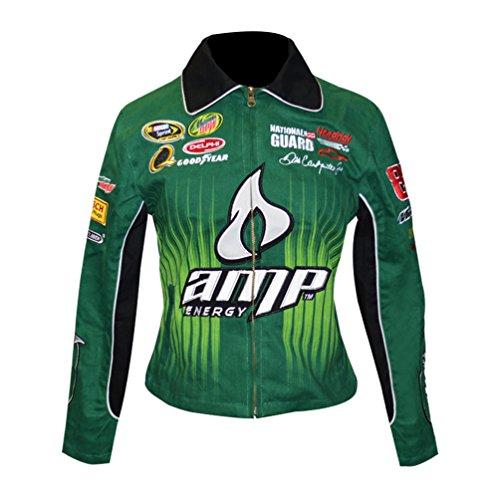 J.H. Design Dale Earnhardt Jr. #88 amp Energy Ladies NASCAR Jacket Green (X-Large)