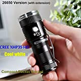 BTU PK26 CREE XHP35 HD 20W CW 2000lumens Mini Pocket LED Flashlight (Color Champagne Gold)
